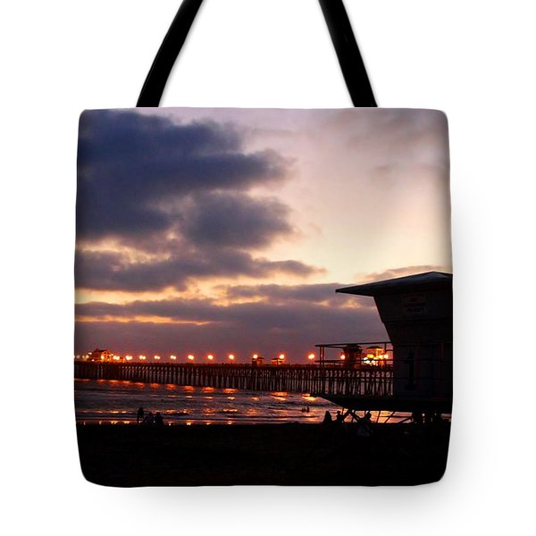 Tote Bag featuring the photograph Oceanside Pier by Christopher Woods