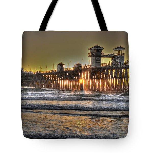 Oceanside Pier Hdr  Tote Bag