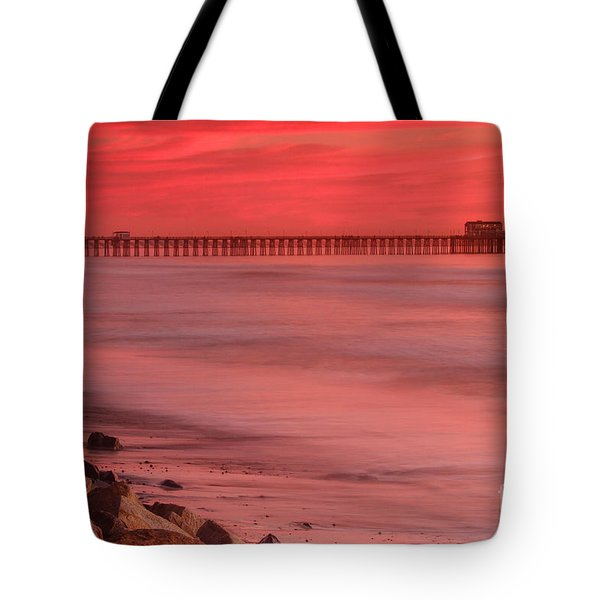 Oceanside Pier Sunset 4 Tote Bag