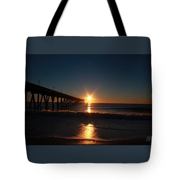 Oceanview Sunrise Tote Bag