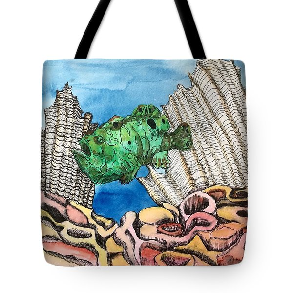 Ocellated Frogfish Tote Bag