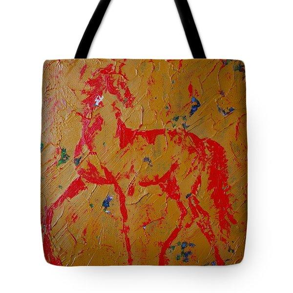 Ochre Horse Tote Bag