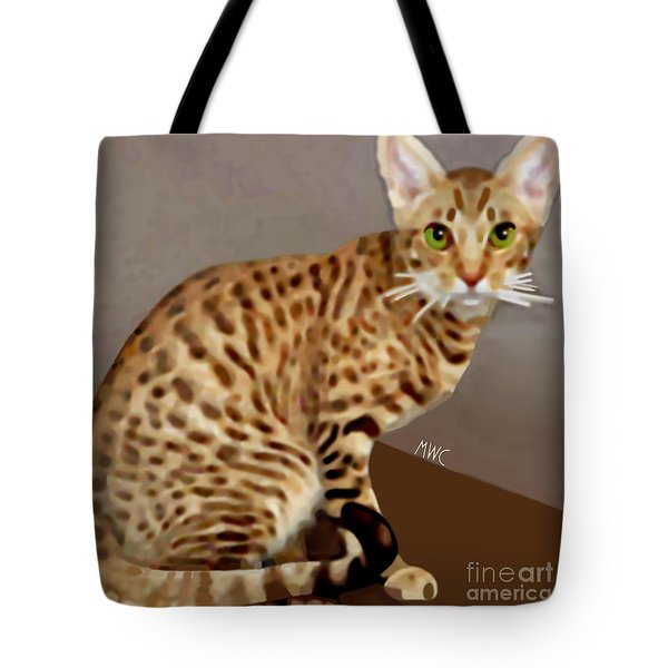 Ocicat Tote Bag by Marian Cates