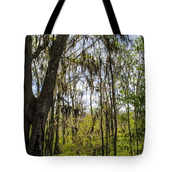 Ocklawaha Spanish Moss In The Swamp Tote Bag