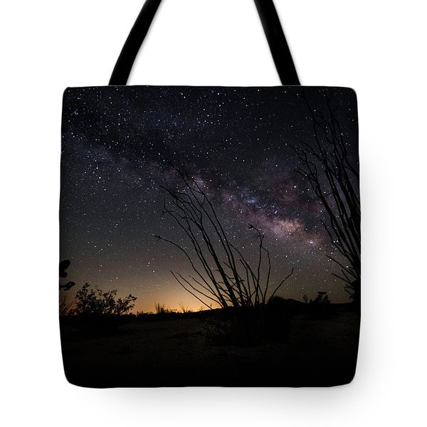 Ocotillo And Dino Milky Way Tote Bag