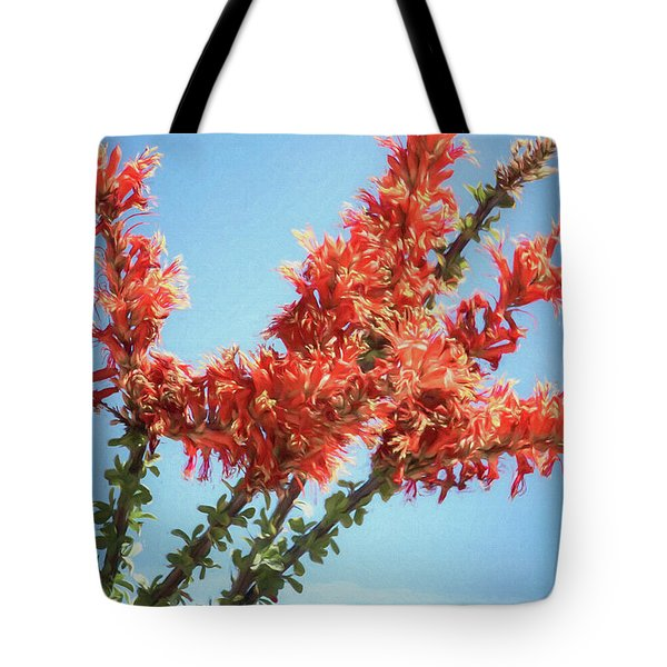 Ocotillo In Bloom Tote Bag
