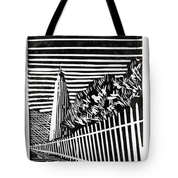 Tote Bag featuring the painting Ocracoke Island Lighthouse by Ryan Fox