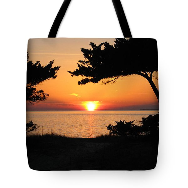 Ocracoke Island Winter Sunset Tote Bag