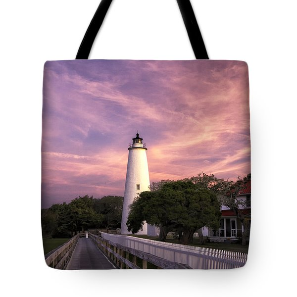 Ocracoke Lighthouse 01 Tote Bag