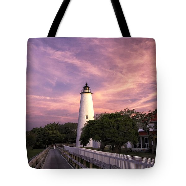 Ocracoke Lighthouse 01 Tote Bag