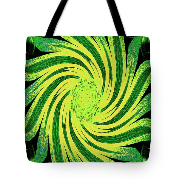Tote Bag featuring the digital art Octagonal Painting Put Into Motion by Merton Allen