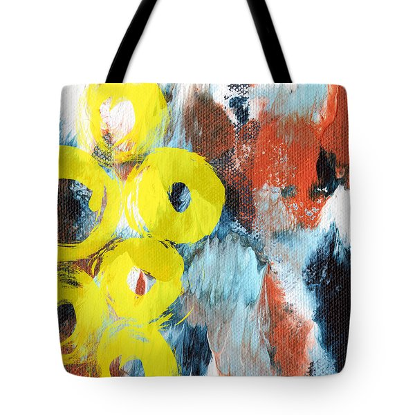 October- Abstract Art By Linda Woods Tote Bag