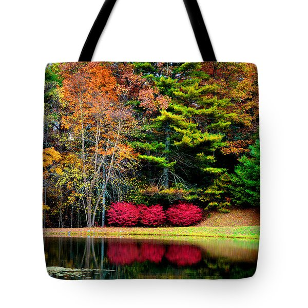 October Afternoon In The Blue Ridge Mountains Tote Bag