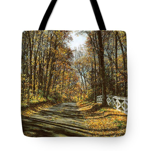 October Backroad Tote Bag by Doug Kreuger