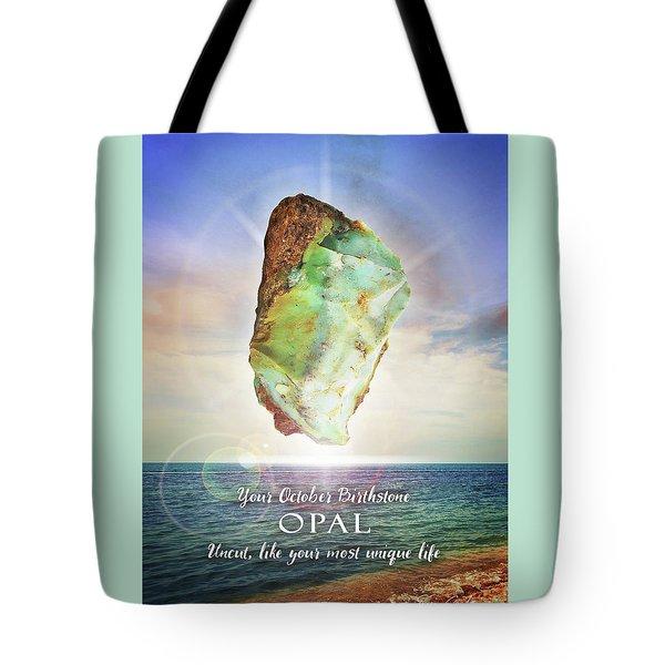 October Birthstone Opal Tote Bag
