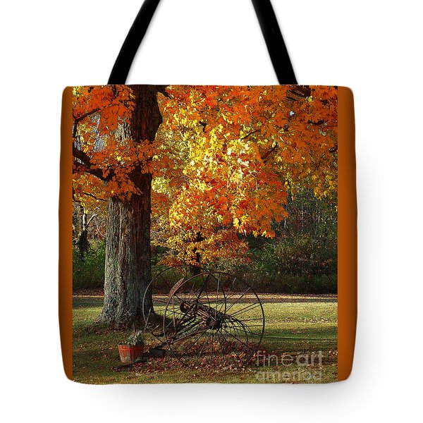 October Day Tote Bag by Diane E Berry