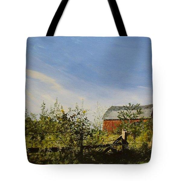 October Fence Tote Bag