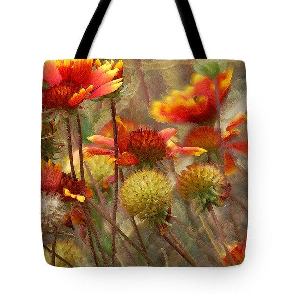 October Flowers 2 Tote Bag by Ernie Echols
