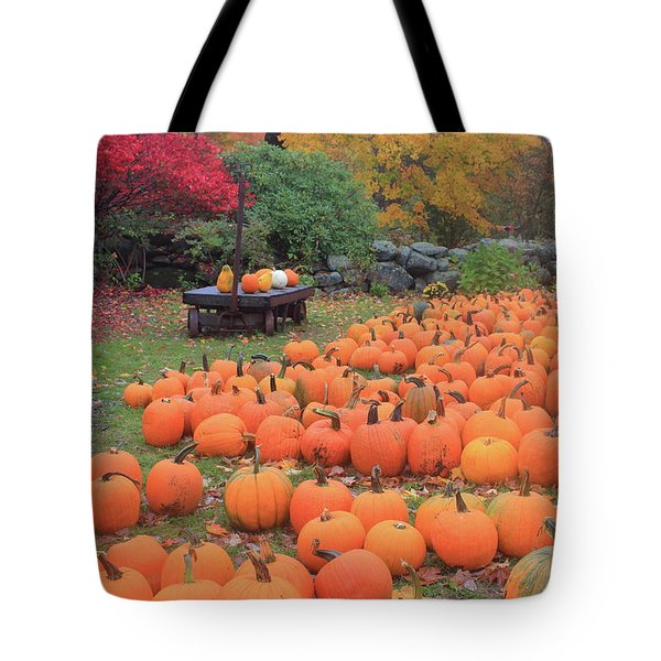 October Harvest Tote Bag by John Burk