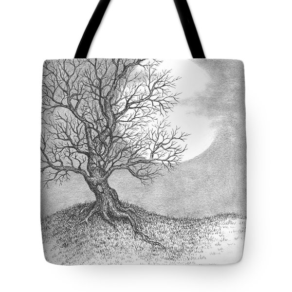 October Moon Tote Bag by Adam Zebediah Joseph