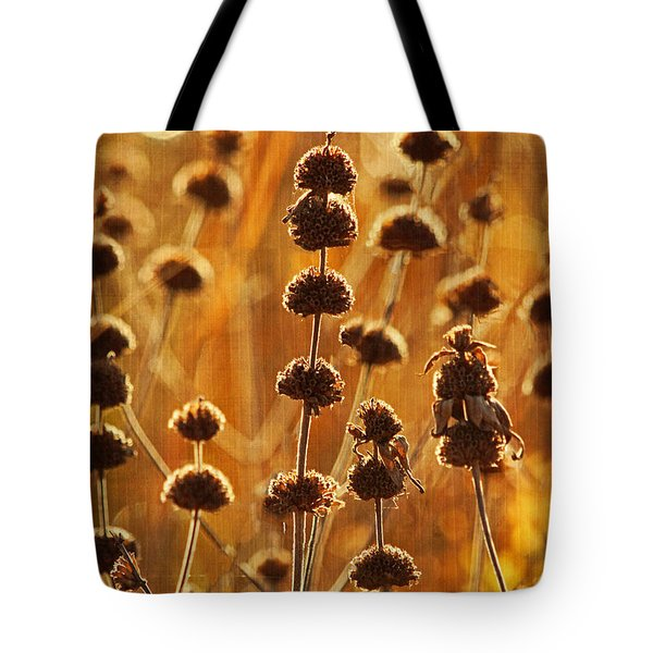 October Morning Text Tote Bag