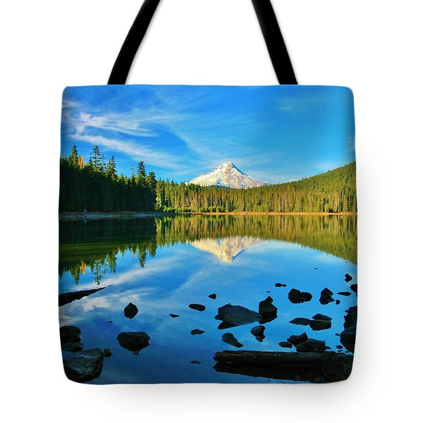 October On The Lake Tote Bag by Sheila Ping