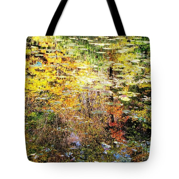 Tote Bag featuring the photograph October Pond by Melissa Stoudt