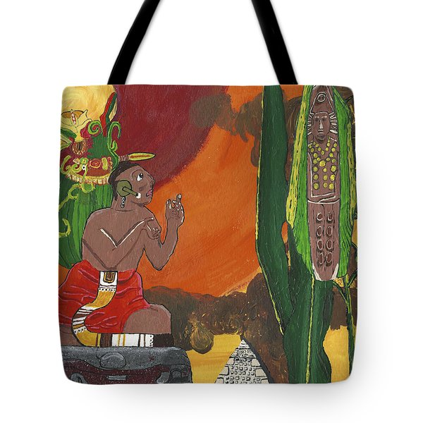 October   Priest Receives Corn Tote Bag