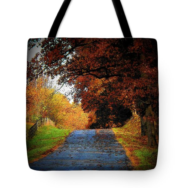 October Road Tote Bag by Joyce Kimble Smith