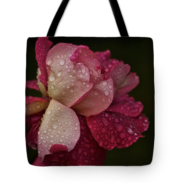 October Rose In The Rain Tote Bag