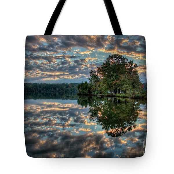 Tote Bag featuring the photograph October Skies by Douglas Stucky