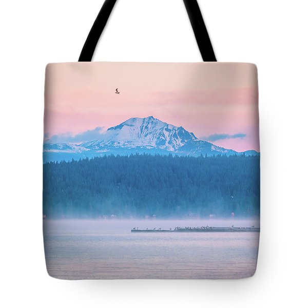 Tote Bag featuring the photograph October Snow by Jan Davies