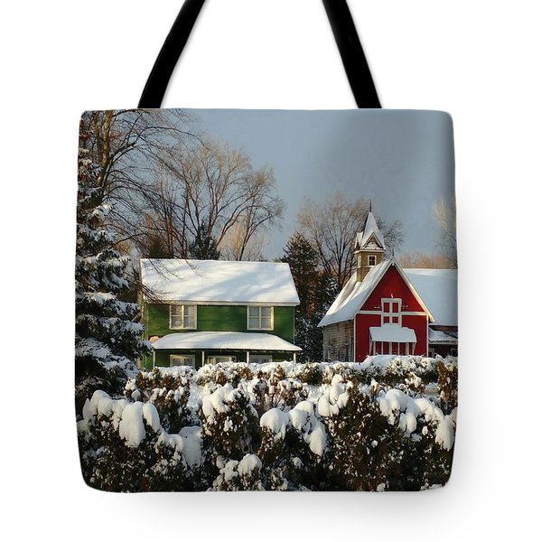 October Snow Tote Bag