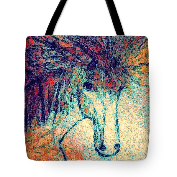 Tote Bag featuring the painting October Spectra by Holly Martinson