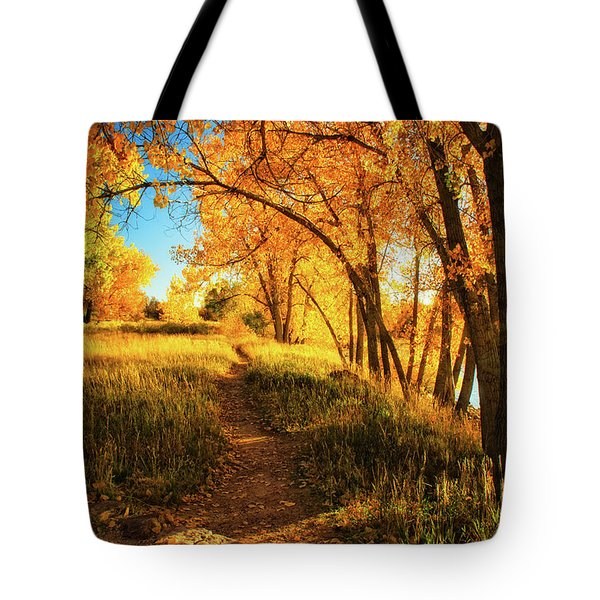 Tote Bag featuring the photograph October's Light by John De Bord