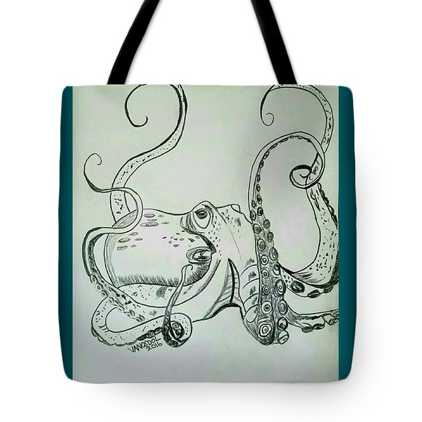 Octopodiformes Octopus Tote Bag by Scott D Van Osdol
