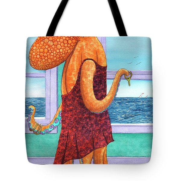 Octopus In A Cocktail Dress Tote Bag