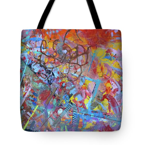 Tote Bag featuring the painting Octopus Playground by Robert Anderson