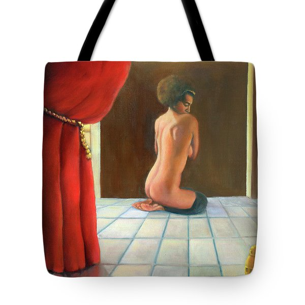 Tote Bag featuring the painting Odalisque 2016 by Marlene Book