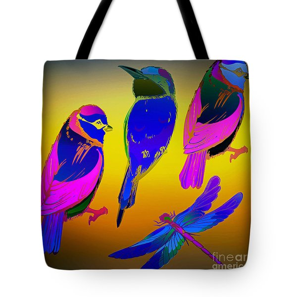Odd Ball Flying Tote Bag