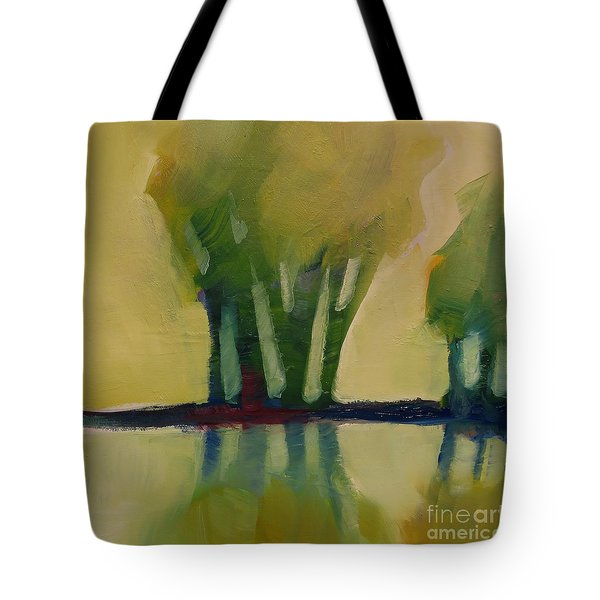 Tote Bag featuring the painting Odd Little Trees by Michelle Abrams