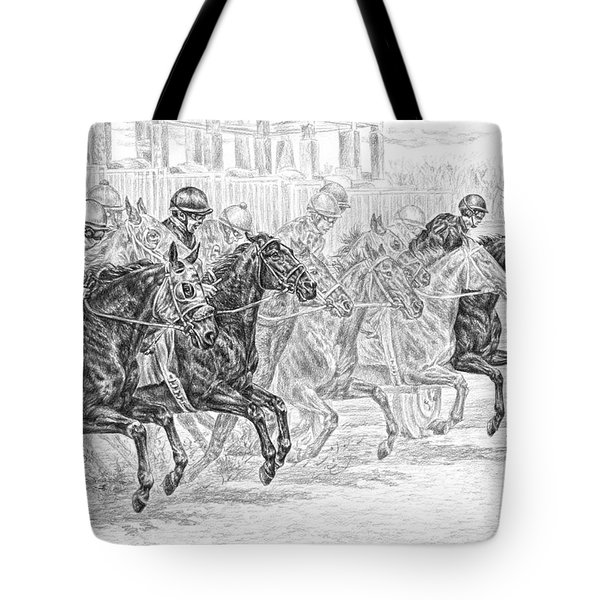 Odds Are... - Tb Race Horse Print Tote Bag