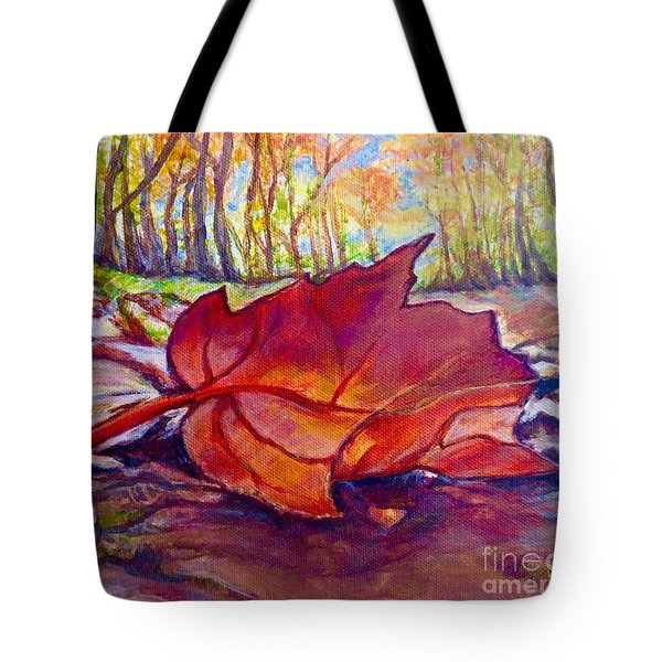 Ode To A Fallen Leaf Painting Tote Bag