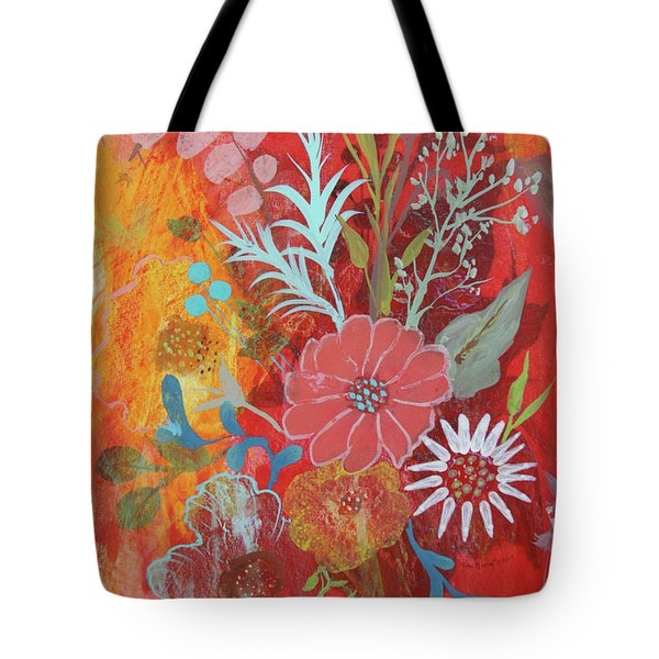 Tote Bag featuring the painting Ode To Spring by Robin Maria Pedrero