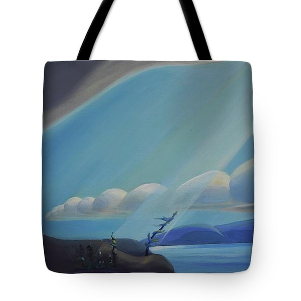 Ode To The North II - Left Panel Tote Bag