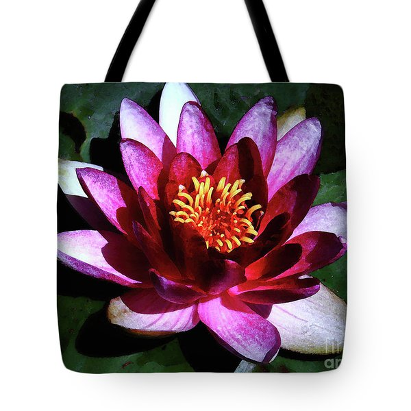 Tote Bag featuring the photograph Ode To The Water Lily by Polly Peacock