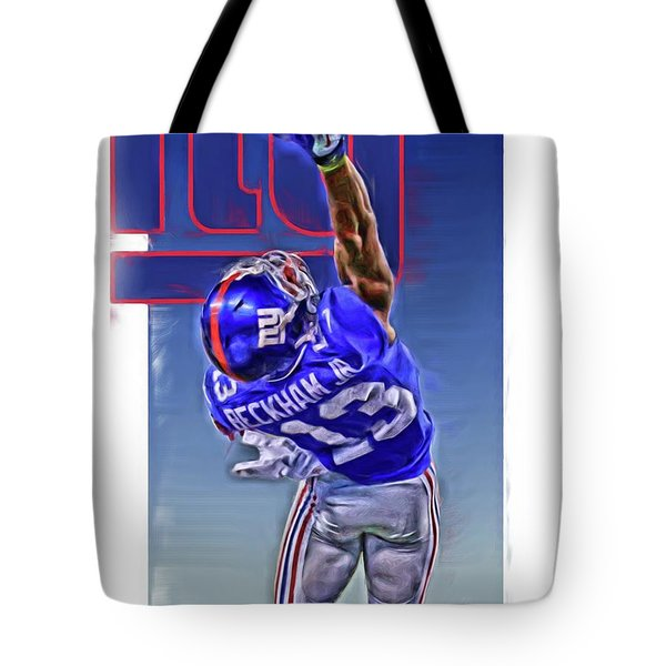 Odell Beckham Jr New York Giants Oil Art 2 Tote Bag
