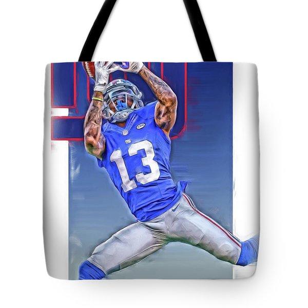Odell Beckham Jr New York Giants Oil Art Tote Bag