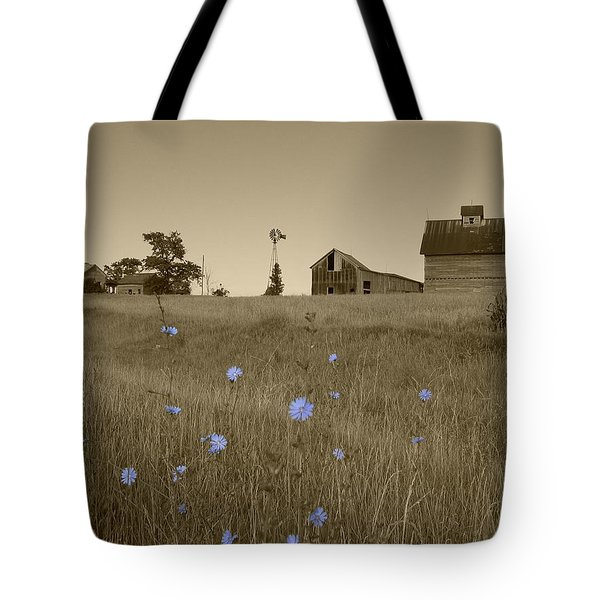 Tote Bag featuring the photograph Odell Farm V by Dylan Punke