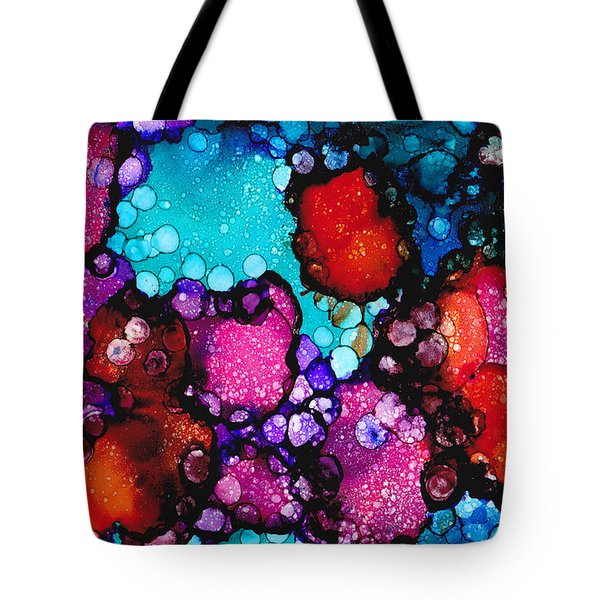 Tote Bag featuring the painting Of A Red Mind by Angela Treat Lyon